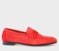 Red Calf Hair 'Glynn' Penny Loafers