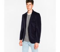 Mid-Fit Dark Navy Buggy-Lined Corduroy Blazer