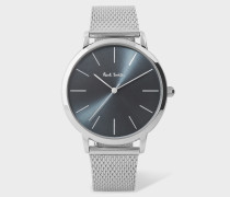 Special Edition 38mm Slate Grey And Stainless Steel 'Ma' Watch