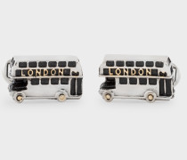 Silver London Bus Cufflinks