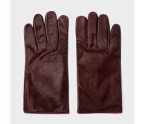 Burgundy Calf Hair Gloves