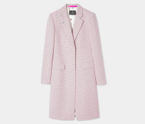 Pink Jacquard Cotton-Blend Epsom Coat