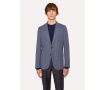 Tailored-Fit Slate-Blue Marl Wool Blazer