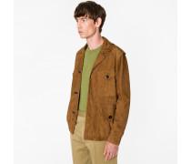 Tan Suede Field Jacket
