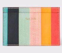 Leather 'Artist Stripe' Print Credit Card Holder