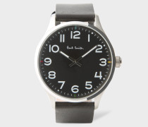Black With Stainless Steel Case 'Tempo' Watch
