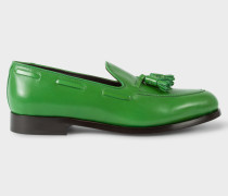 Green Leather 'Simmons' Tasseled Loafers