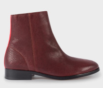 Bordeaux Leather 'Brooklyn' Boots