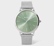 Special Edition 38mm Light Green And Stainless Steel 'Ma' Watch