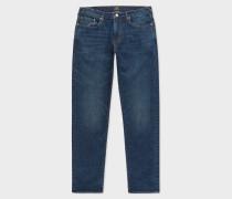 Tapered-Fit 11.8oz Blue Rinse 'Super Soft Cross-Hatch' Stretch-Denim Jeans