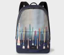 Canvas 'Paint Brush' Print Backpack