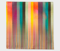 Mixed-Stripe Silk Pocket Square