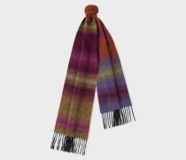 Dark Red Fading Stripe Wool-Blend Scarf