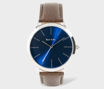 Navy And Brown 'Ma' Watch