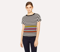 Striped Cotton Short-Sleeve Top