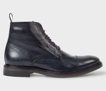 Dip-Dyed Navy Calf Leather 'Jarman' Boots