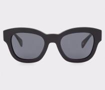 Semi-Matte Onyx And Grey 'Dennett' Sunglasses