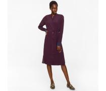 Damson Textured Silk-Blend Travel Dress