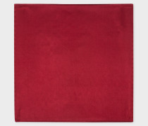 Burgundy Silk Pocket Square