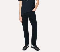 Standard-Fit 11.8oz 'Super Soft Cross-Hatch' Navy Over-Dyed Jeans