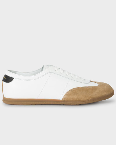 Paul Smith Herren White Leather 'Holzer' Trainers