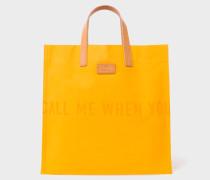 R.E.M. + Yellow Canvas Tote Bag