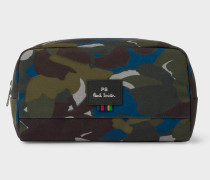 Camouflage Print Canvas Wash Bag