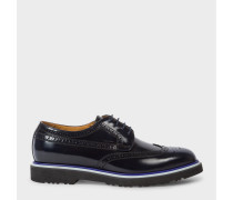 Navy High-Shine Leather 'Crispen' Brogues