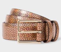 Bronze Leather Double Keeper Belt