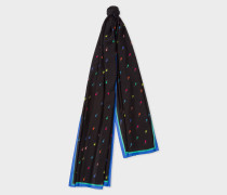 Black 'Ice Lolly' Print Scarf
