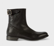 Black Leather 'Thunder' Boots