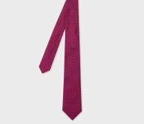 Raspberry Pin-Dot Narrow Silk Tie