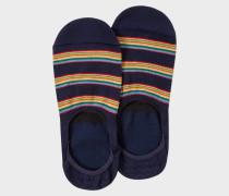 Navy Multi-Stripe Block Loafer Socks