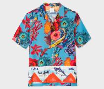 Blue 'Ocean' Print Short-Sleeve Shirt