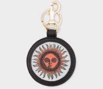 'Sun' Motif Lenticular Leather Keyring