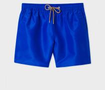 Classic-Fit Blue Long Swim Shorts