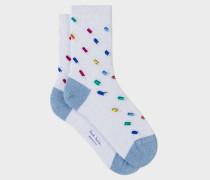 White Glitter 'Ice Lolly' Socks