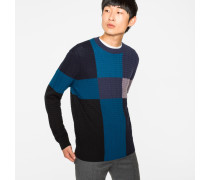 Colour-Block Merino-Wool Cable-Knit Sweater