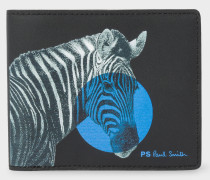Black 'Zebra' Print Billfold Wallet