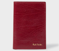 Burgundy Grained Leather Credit Card Wallet