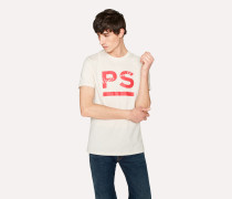 Slim-Fit Off-White 'PS Paul Smith' Print T-Shirt