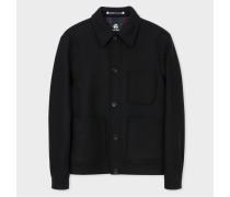 Black Wool-Cashmere Chore Jacket