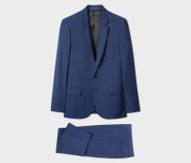 Mid-Fit Blue Wool-Mohair Suit