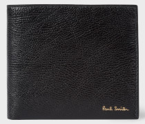 Black Grained Leather Billfold Wallet