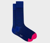 Navy And Black Stripe Socks