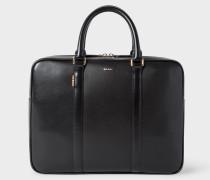 Black 'New City' Leather Slim Business Folio