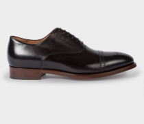 Black Parma Calf Leather 'Berty' Brogues