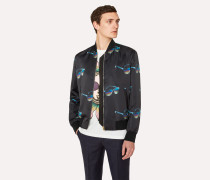 'Sunglasses' Print Bomber Jacket