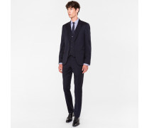 The Soho - Tailored-Fit Navy Wool Three-Piece Suit