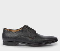 Black Grained Leather 'Roth' Derby Shoes